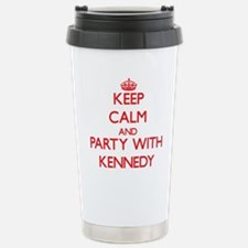Keep calm and Party with Kennedy Travel Mug