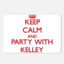 Keep calm and Party with Kelley Postcards (Package
