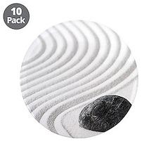 """Zen Garden 3.5"""" Button (10 pack)"""