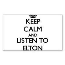 Keep Calm and Listen to Elton Decal