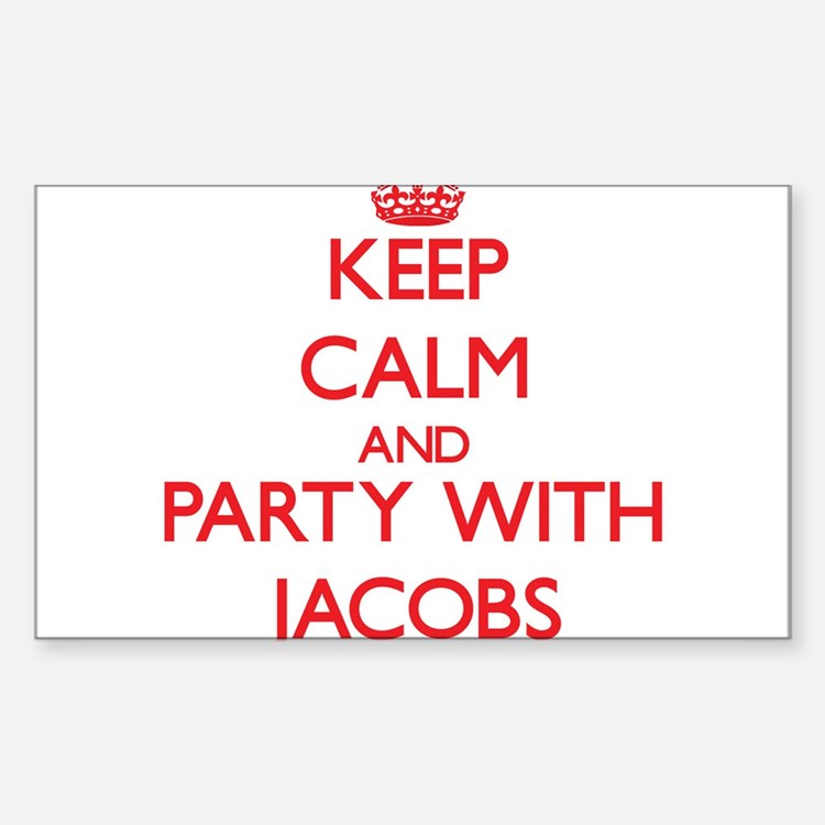 Keep calm and Party with Jacobs Decal