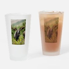 Moose in the Wild Drinking Glass