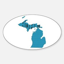 Michigan Home Sticker (Oval)