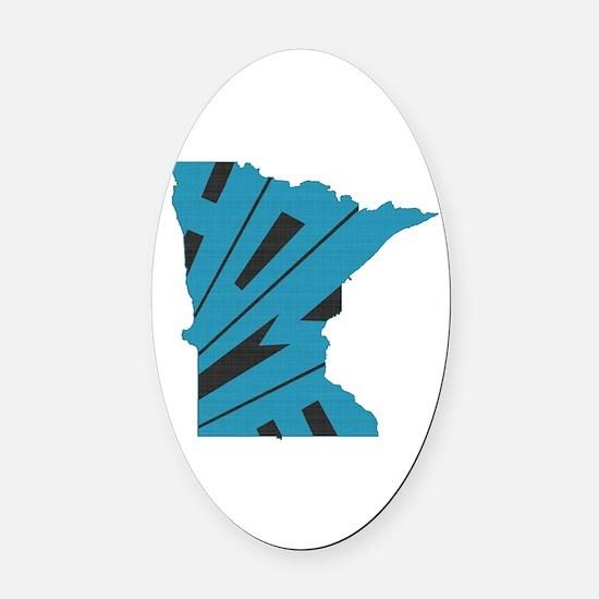 Minnesota Home Oval Car Magnet