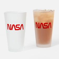 NASA Worm Logo Drinking Glass