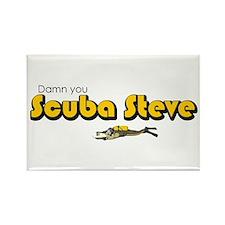 Scuba Steve Rectangle Magnet