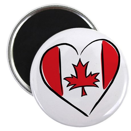 """Heart Canada 2.25"""" Magnet (100 pack)"""