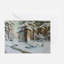Winter Forest Scene Greeting Cards