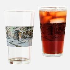 Winter Forest Scene Drinking Glass