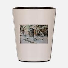 Winter Forest Scene Shot Glass