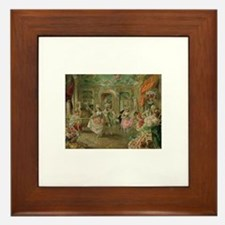 Rococo Dance Party Framed Tile