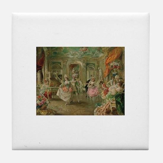 Rococo Dance Party Tile Coaster