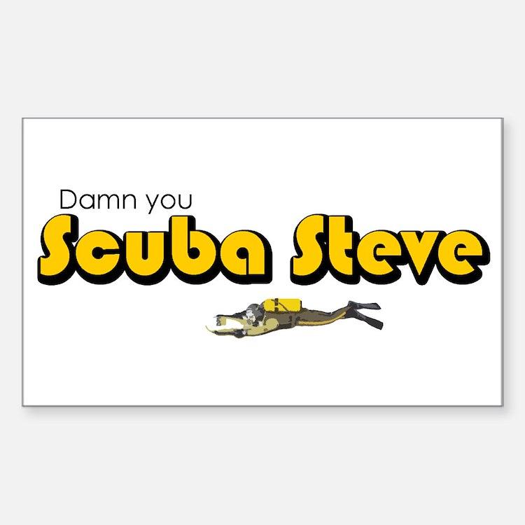 Scuba Steve Rectangle Decal