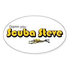 Scuba Steve Oval Decal