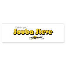 Scuba Steve Bumper Bumper Sticker