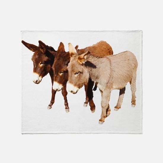 Wild Burro Buddies Throw Blanket