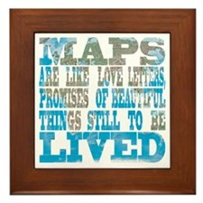 Maps Framed Tile
