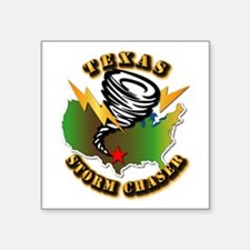 "Storm Chaser - Texas Square Sticker 3"" x 3"""