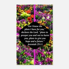 JEREMIAH 29:11 3'x5' Area Rug
