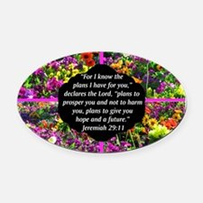 JEREMIAH 29:11 Oval Car Magnet