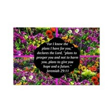 JEREMIAH 29:11 Rectangle Magnet (10 pack)