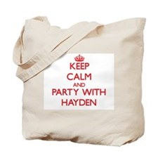 Keep calm and Party with Hayden Tote Bag