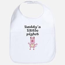 Daddys Little Piglet Bib