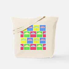 Colorful parasol pattern Tote Bag