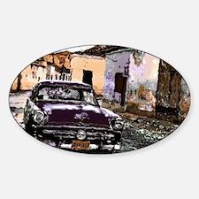 Streets of cuba Sticker (Oval)