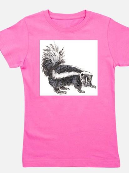 skunk drawing Girl's Tee