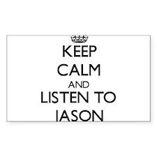 Keep Calm and Listen to Jason Decal
