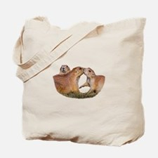 Prairie Dog Kiss Tote Bag