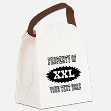 Personalize Property Of XXL Canvas Lunch Bag