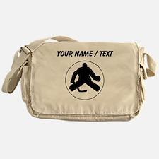 Custom Hockey Goalie Circle Messenger Bag