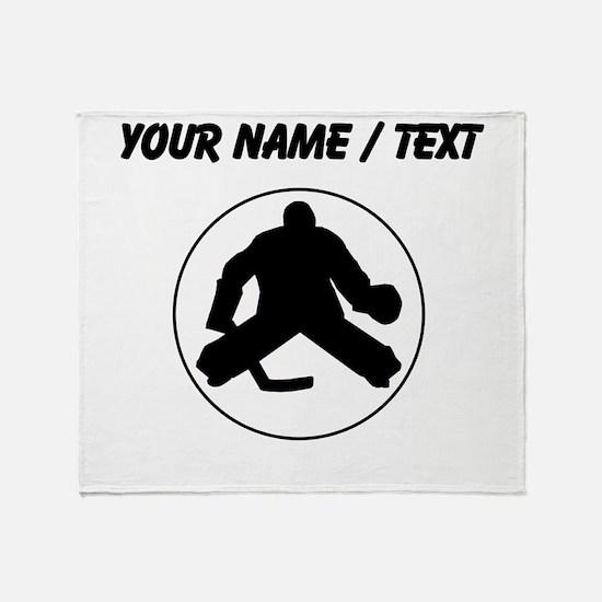 Custom Hockey Goalie Circle Throw Blanket