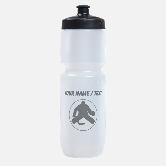 Custom Hockey Goalie Circle Sports Bottle