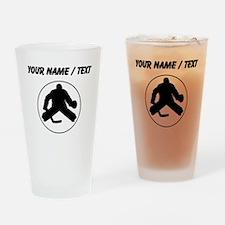 Custom Hockey Goalie Circle Drinking Glass