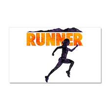 female runner.png Car Magnet 20 x 12