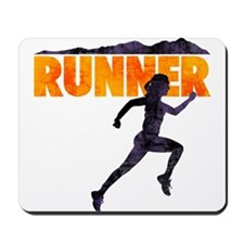 female runner.png Mousepad