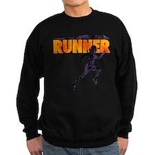 female runner.png Sweatshirt