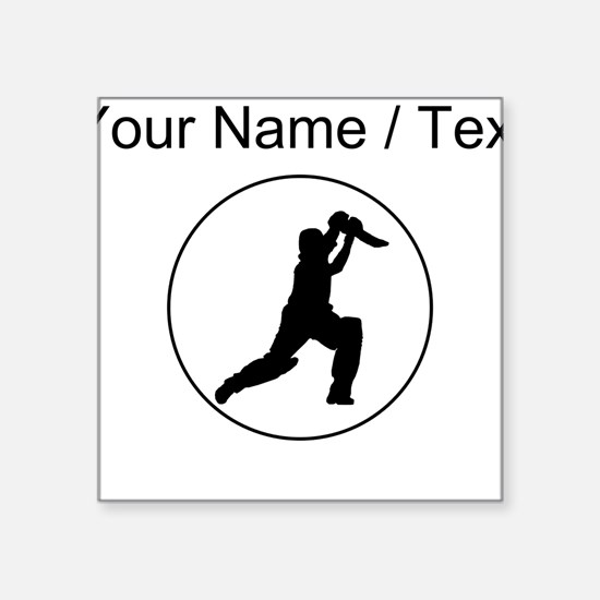 Custom Cricket Player Circle Sticker