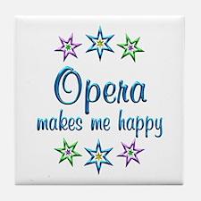 Opera Happy Tile Coaster