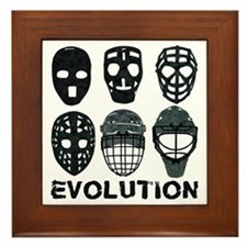 Hockey Goalie Mask Evolution Framed Tile