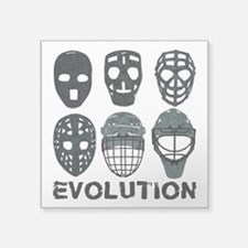 Hockey Goalie Mask Evolution Sticker