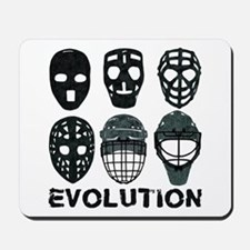Hockey Goalie Mask Evolution Mousepad