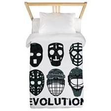 Hockey Goalie Mask Evolution Twin Duvet