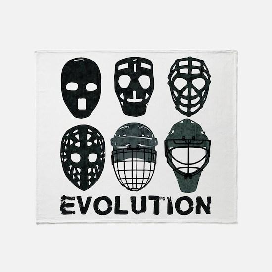Hockey Goalie Mask Evolution Throw Blanket