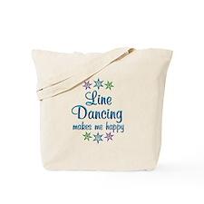 Line Dancing Happy Tote Bag