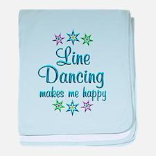 Line Dancing Happy baby blanket