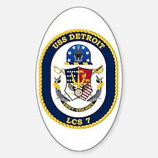 USS Detroit LCS-7 Sticker (Oval)